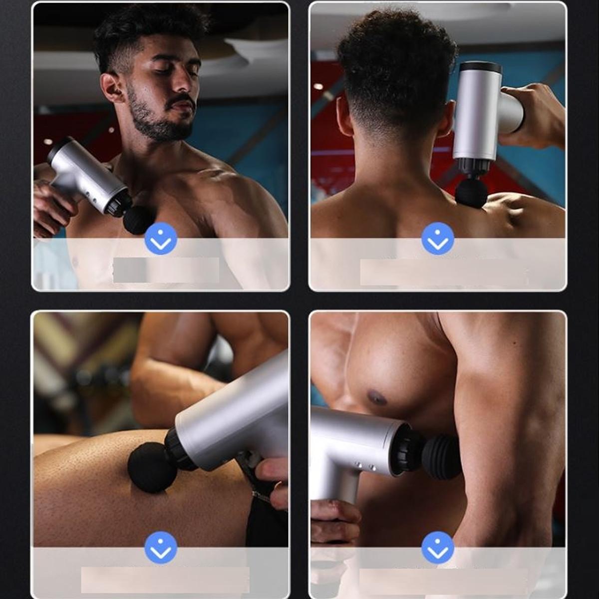 Máy Massage Cầm Tay Phục Hồi Thể Lực Chính Hãng miDoctor - Súng Massage Cầm Tay Fascial Gun