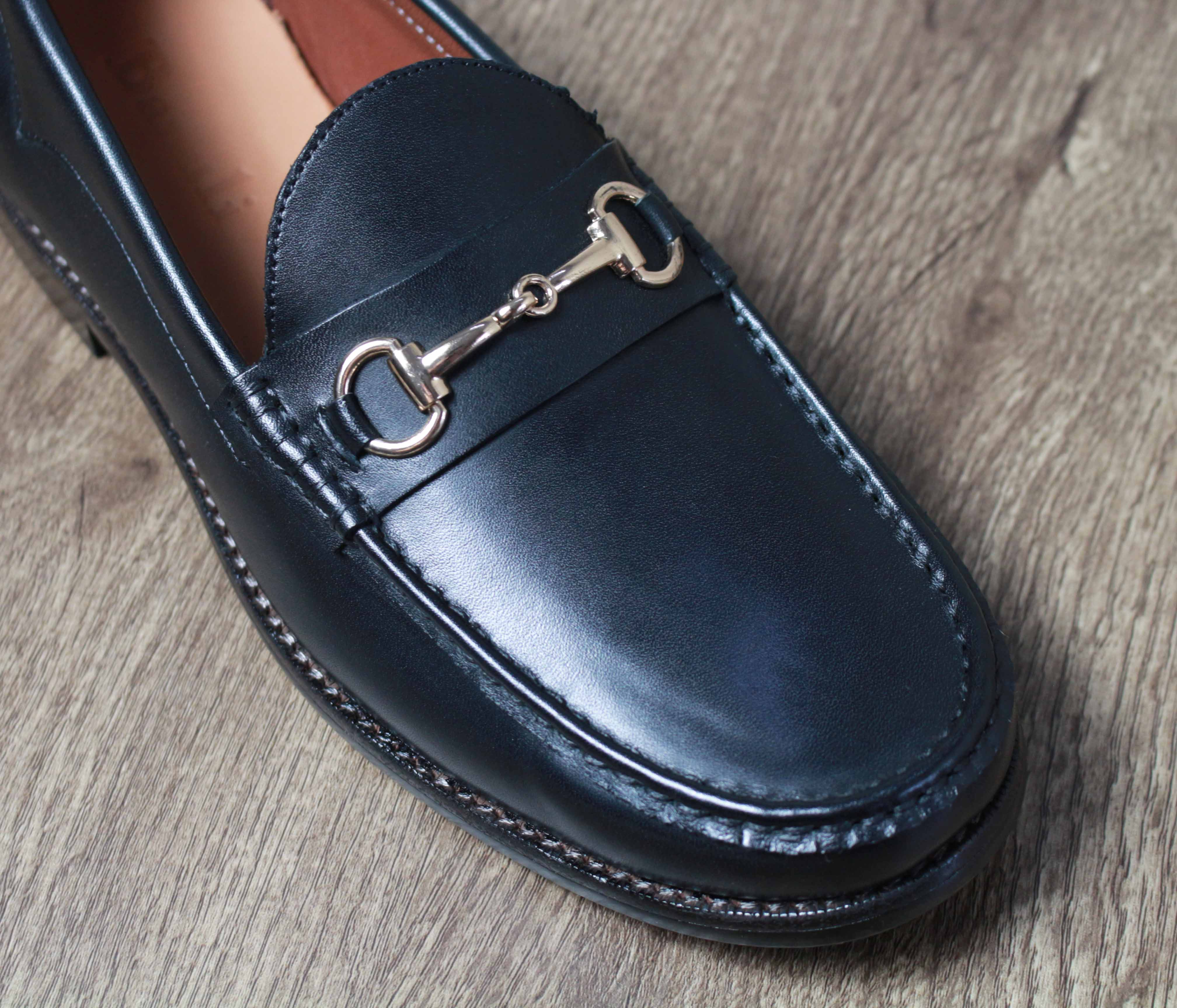 Giày nam cao cấp chính hãng BANULI, kiểu giày tây công sở lười HDPL2M0 da bò Ý, đế pháp cao su tự nhiên