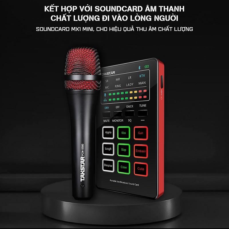 Combo trọn bộ mic thu âm chính hãng Takstar MX1 mini, tai nghe Ts-2260 và đầy đủ phụ kiện thu âm, livestream, hát karaoke online - AVSTAR - hàng chính hãng