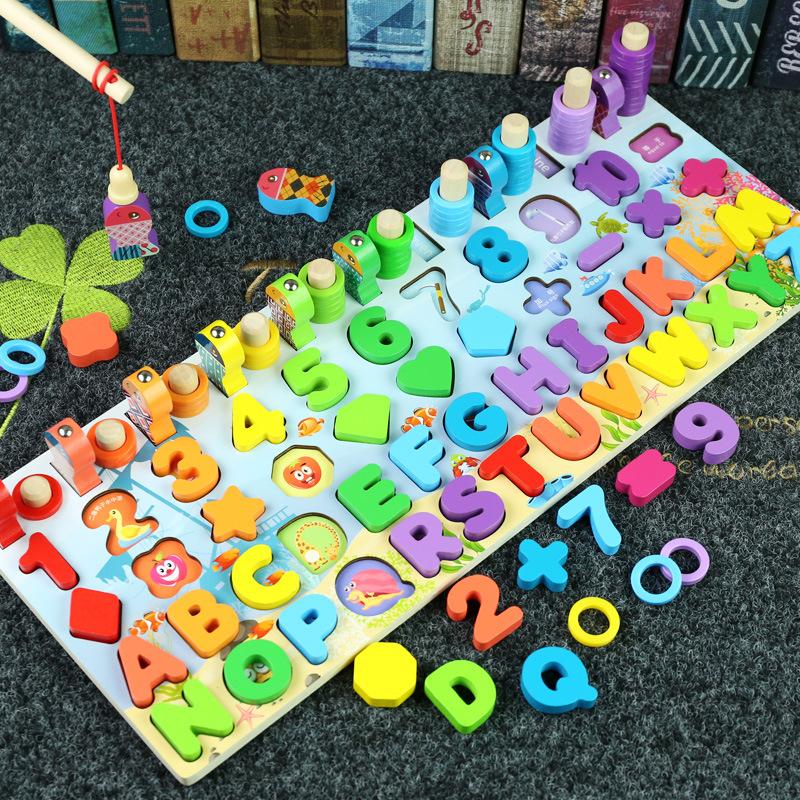 Đồ chơi câu cá kết hợp nhận biết hình khối, màu sắc và chữ số (từ 2- 4 tuổi)