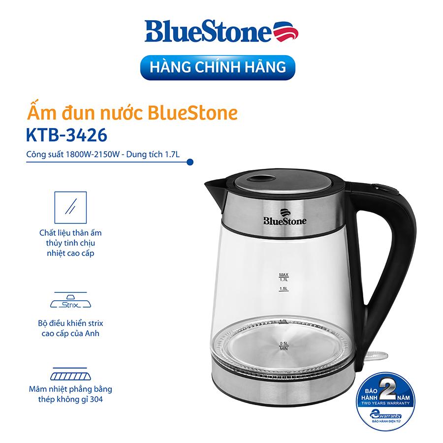 Hình ảnh Ấm Đun Nước Thủy Tinh Bluestone KTB-3426 (1.7 Lít)