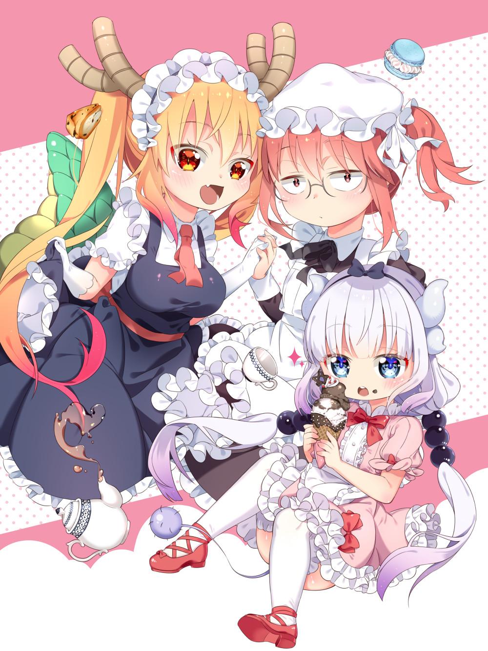 Tranh Poster Maid Dragon A4 combo 3 tấm khác nhau