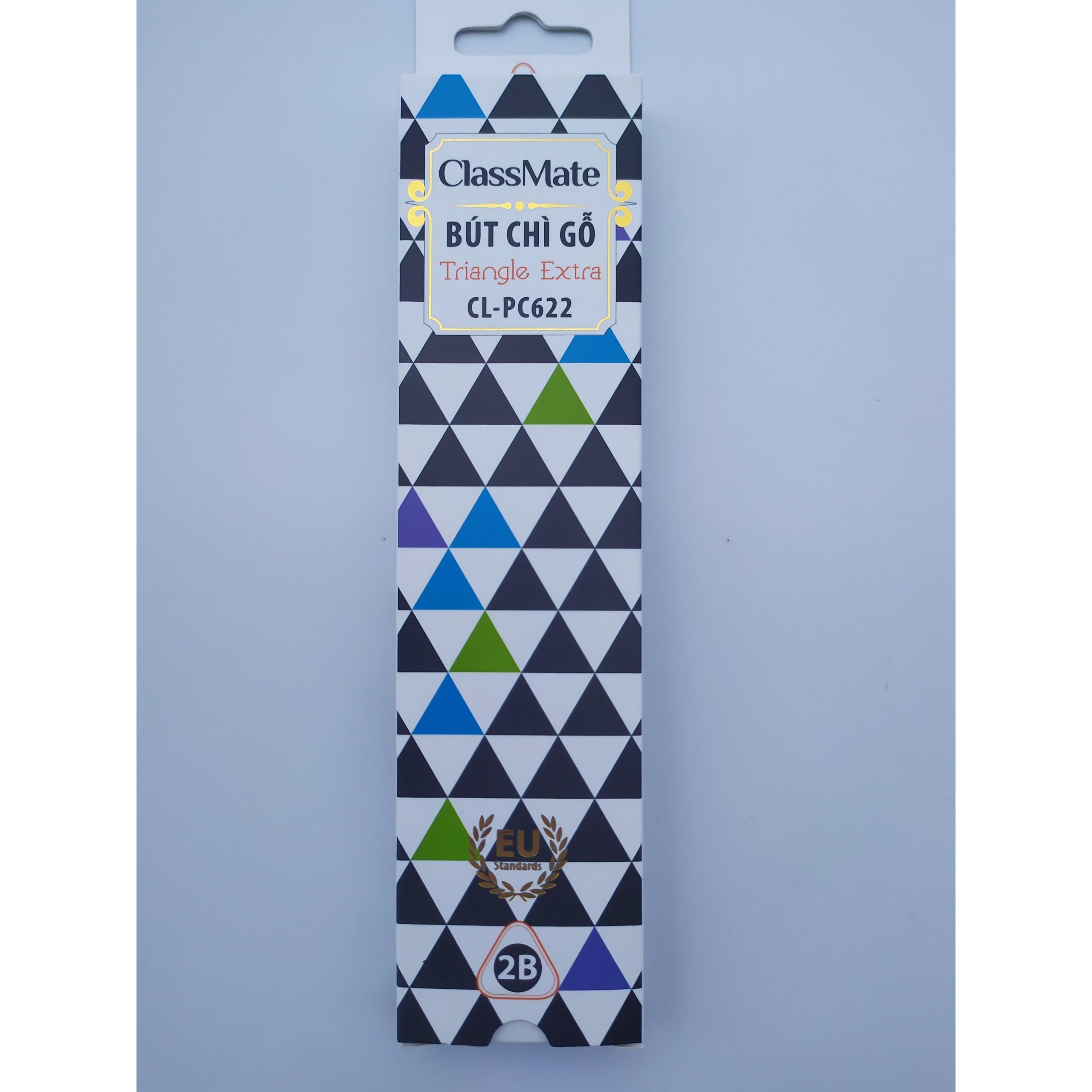 Hộp 12 cây Bút chì gỗ tam giác có tẩy Classmate-PC622