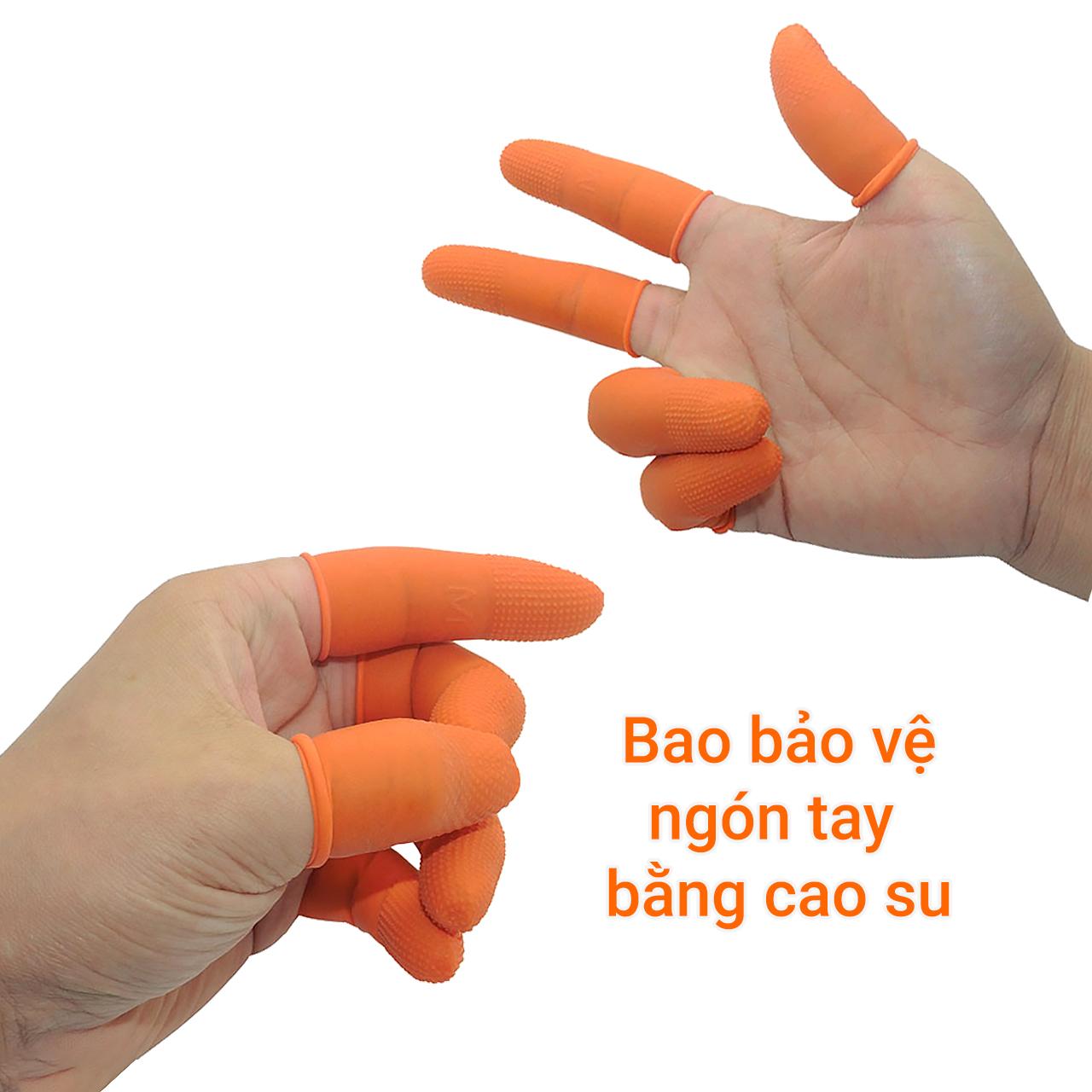 Bao bảo vệ ngón tay bằng cao su 10 chiếc/gói