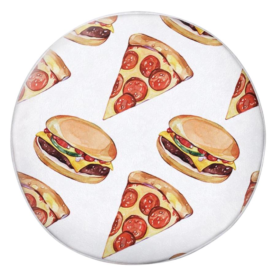 Gối Ôm Tròn Pizza Và Hamburger GOHT290