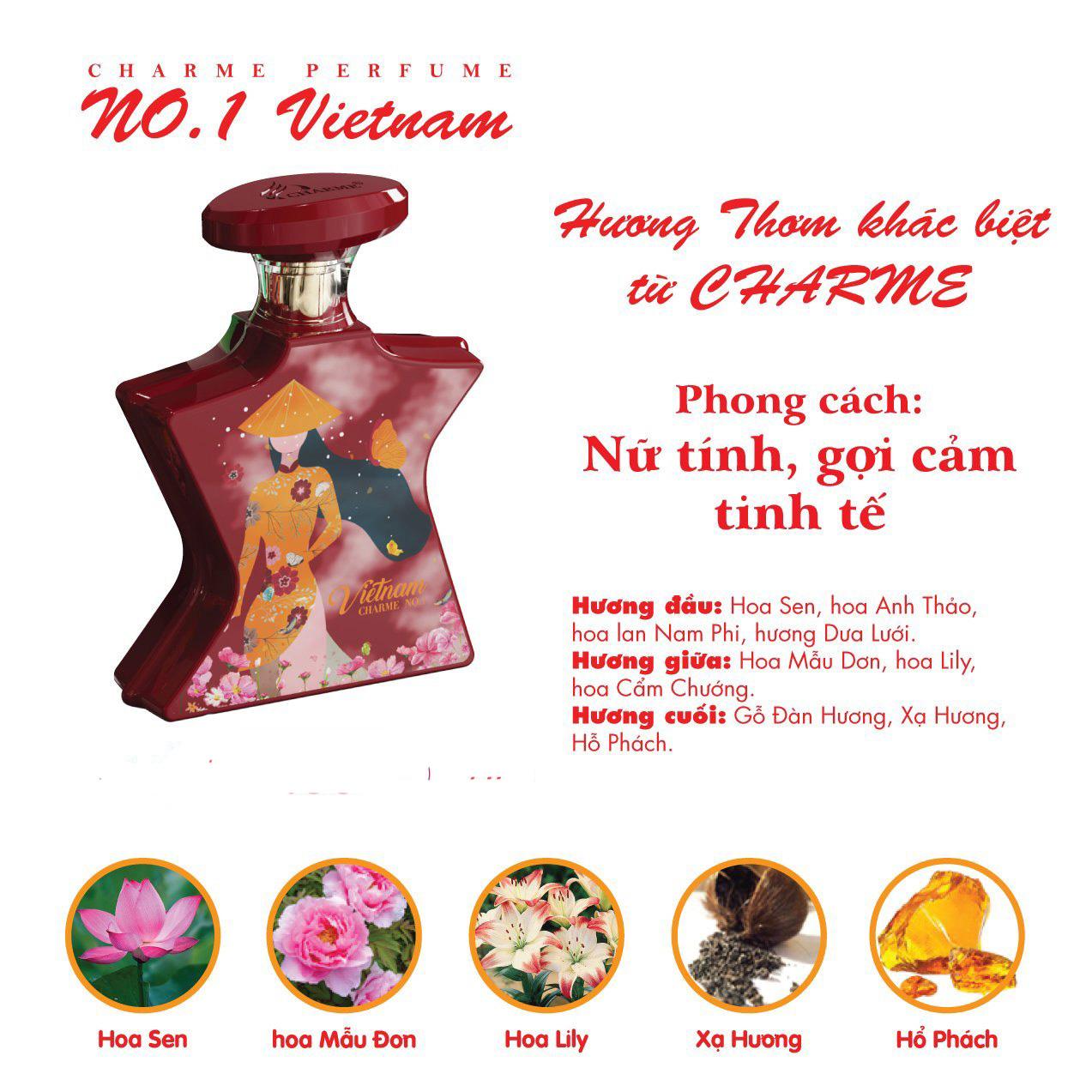 Nước Hoa Nữ Charme No.1 Việt Nam 100ml