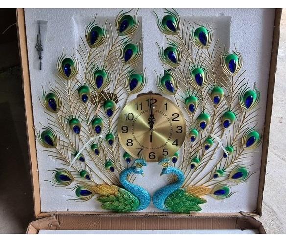 Đồng hồ treo tường MONSKY GCLOCK loại to KT 65x70 (cm) cao cấp làm từ kim loại sơn tĩnh điện chạy máy kim trôi chuẩn (1934)