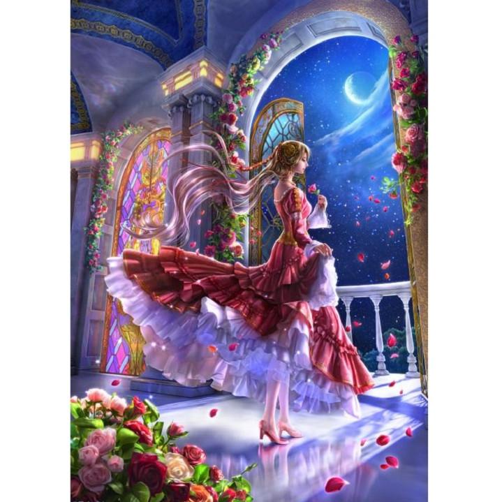 Tranh ghép hình 1000 mảnh gỗ - công chúa hoa hồng