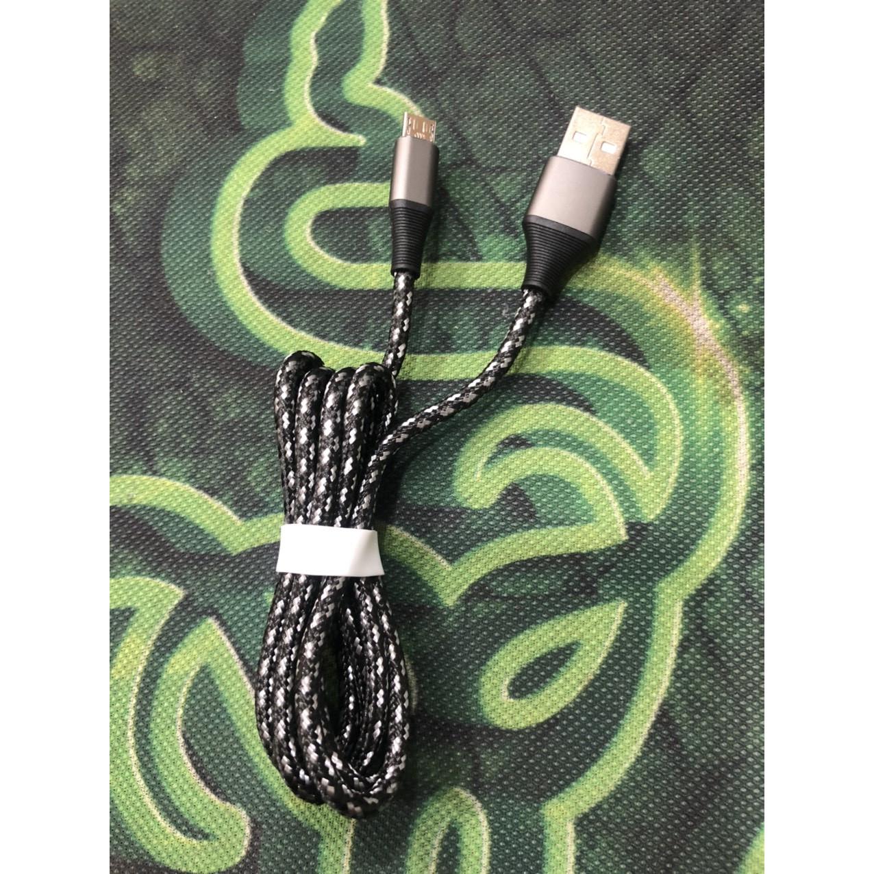 Cáp sạc cổng micro usb  dây dù dài 1.2 mét