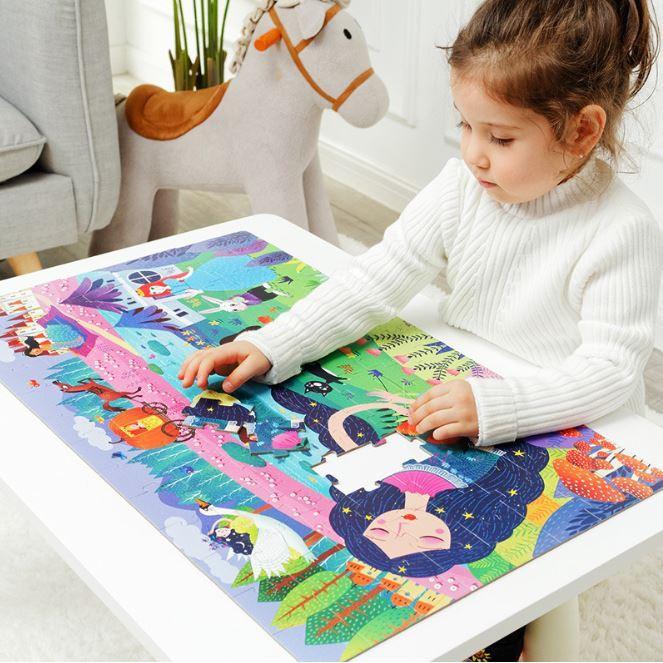 Vali xếp hình Puzzle 104 miếng khổ lớn - Công chúa ngủ trong rừng MD3025