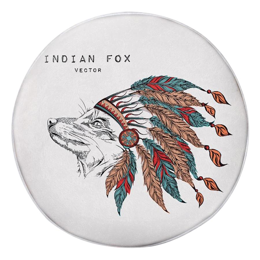 Gối Ôm Tròn Indian Fox  - OAA066