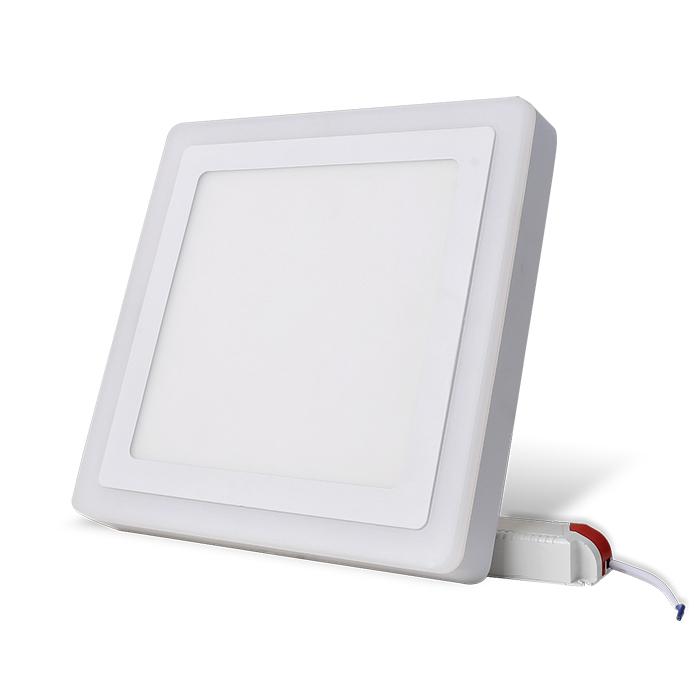 Đèn led ốp trần đổi màu 24W chính hãng Rạng Đông - Hình vuông - 2 cái