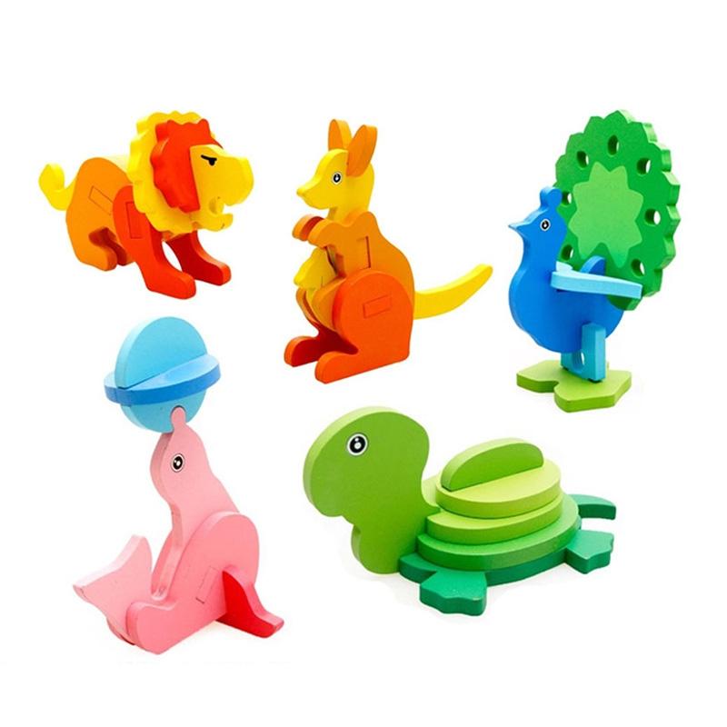 Combo 03 Đồ chơi lắp ghép con vật 3D cho bé (mẫu ngẫu nhiên)