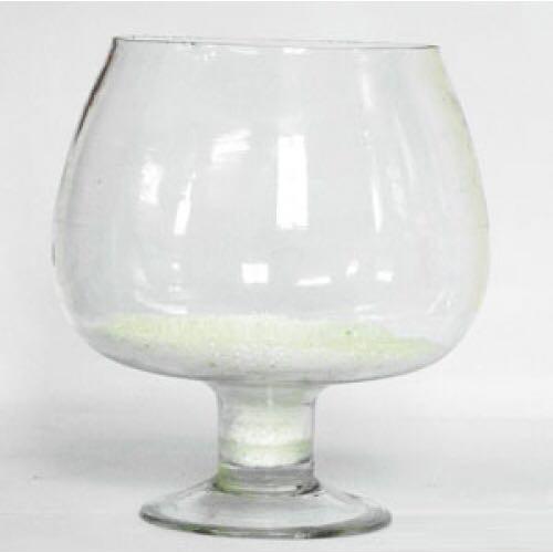 Bình hoa bể cá thủy tinh có chân 17cmx13cm - LC3