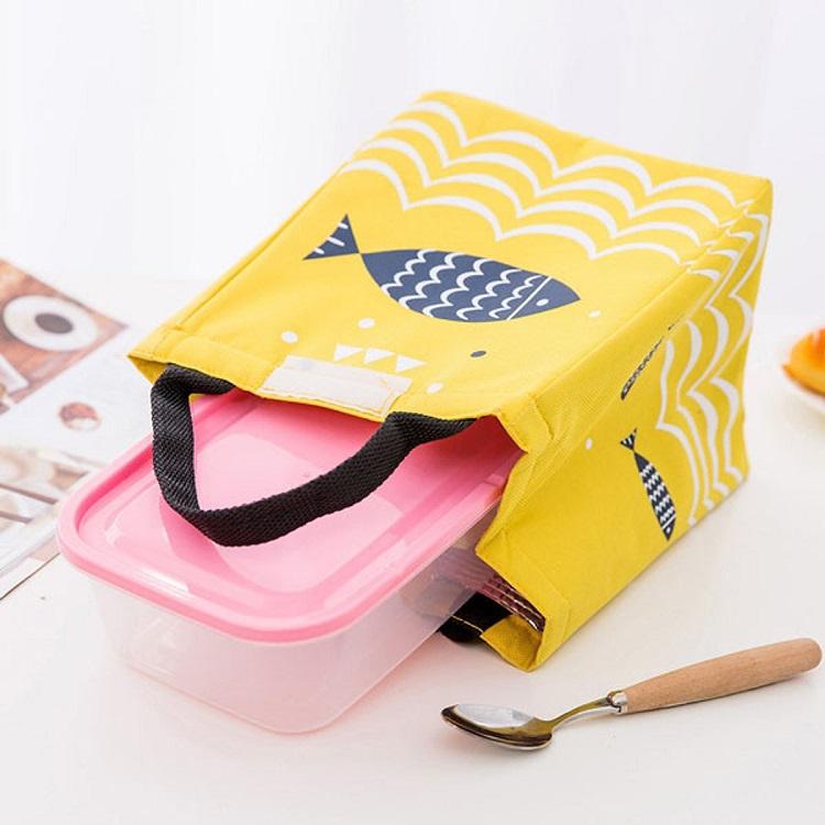 Túi để hộp chứa cơm Giữ nhiệt - màu ngẫu nhiên
