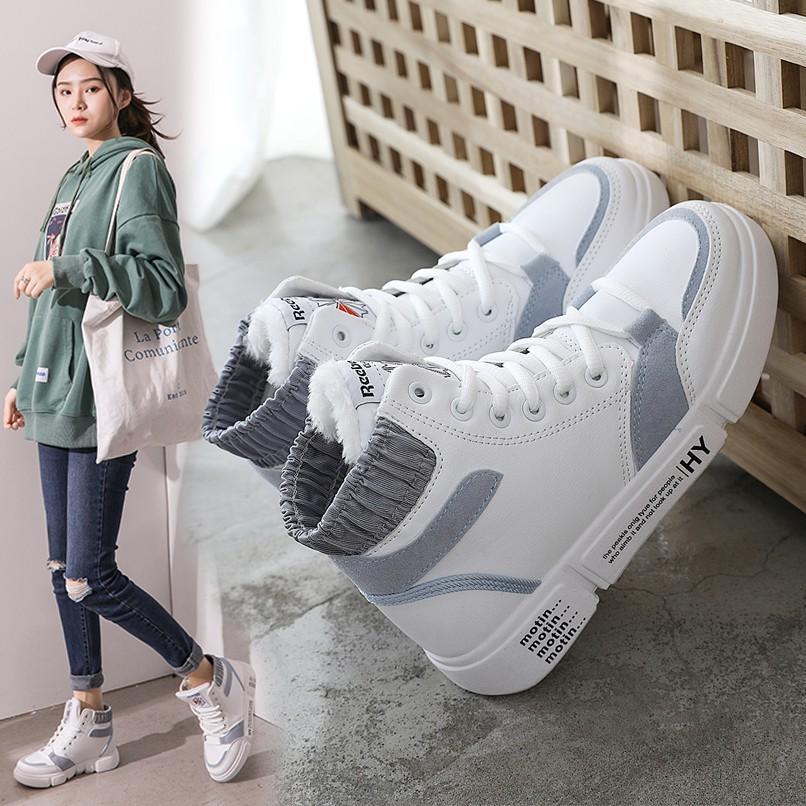 Giày thể thao nữ Hàn Quốc, cổ cao tôn dáng, nhiều màu