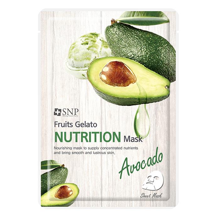 Combo 10 Mặt Nạ Bơ Giàu Dinh Dưỡng SNP Fruits Gelato Nutrition Mask