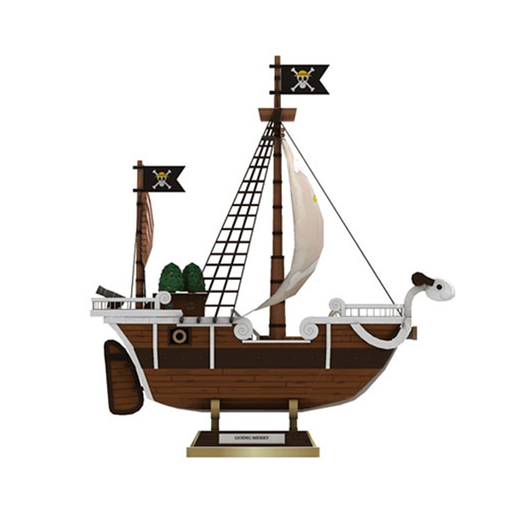 Mô hình giấy Anime One Piece Tàu thuyền Going Merry Ship
