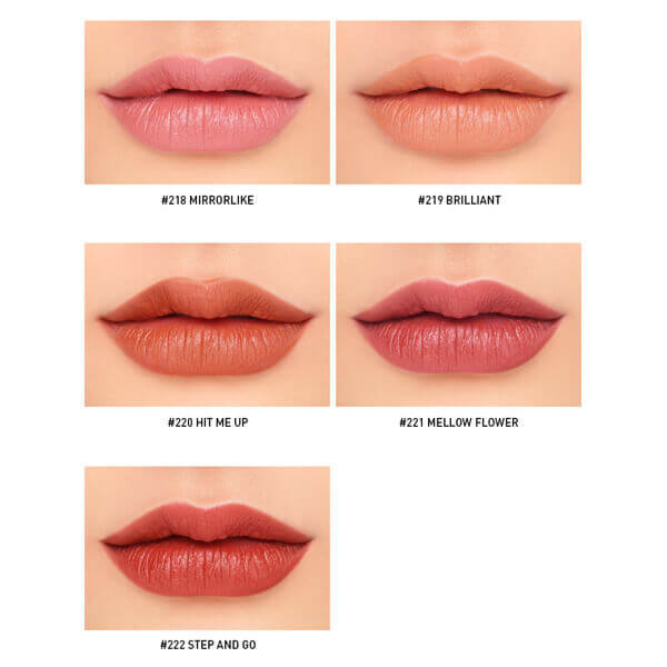 Son lì 3CE Mood Recipe Matte Lip Color #222 Step And Go - Đỏ Đất
