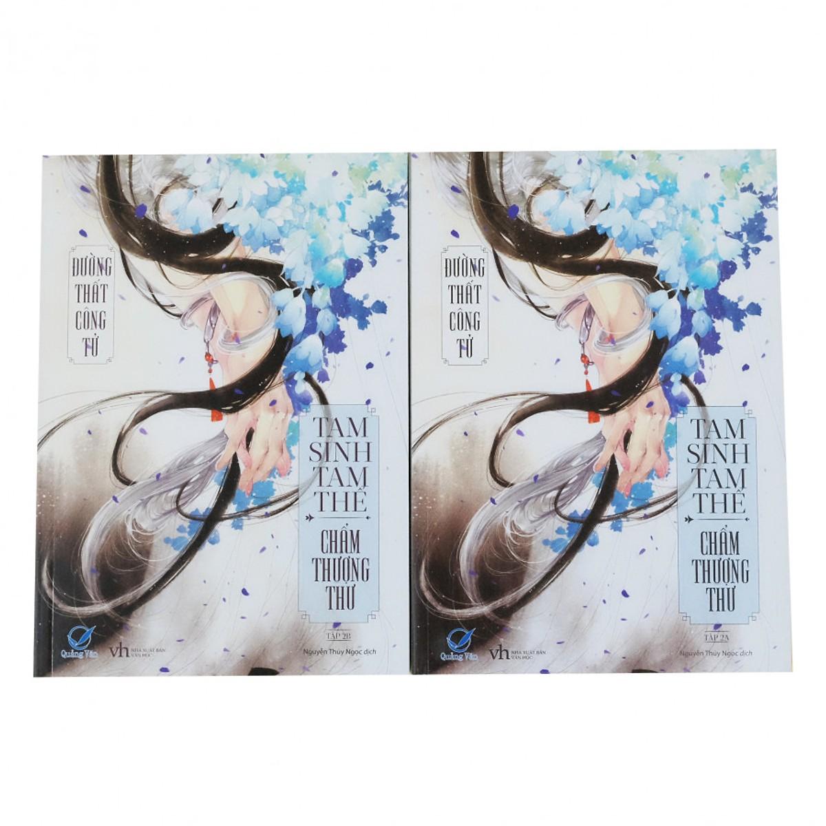 Combo Sách Ngôn Tình Hay : Tam Sinh Tam Thế Thập Lý Đào Hoa + Tam Sinh Tam Thế Chẩm Thượng Thư +Tam Sinh Tam Thế Chẩm Thượng Thư (Tập 2A + 2B) - Bìa Mềm (Tái bản 2018)