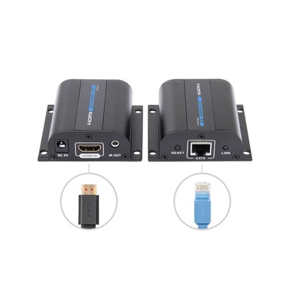 Bộ kéo dài HDMI bằng cáp mạng tới 60m LKV372A Hàng nhập khẩu