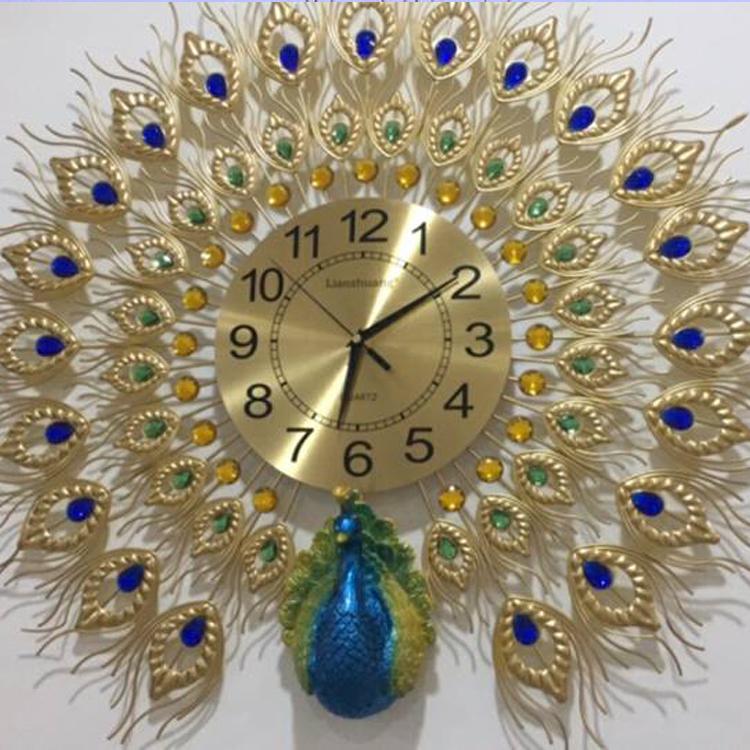 Đồng hồ trang trí chim Công xòe DHS307