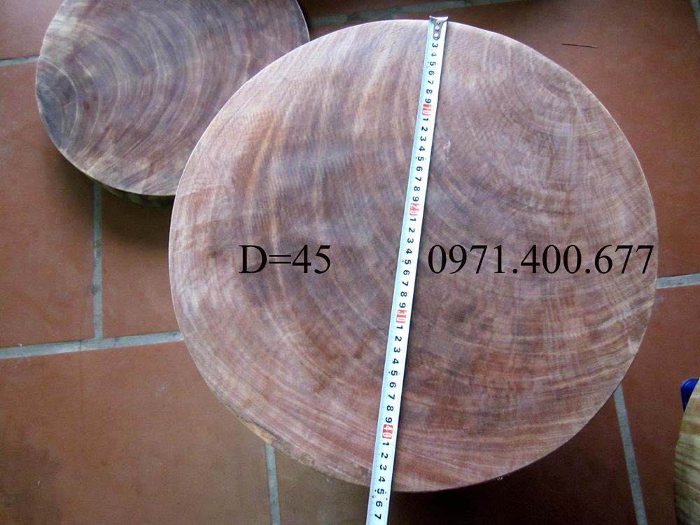 Thớt Gỗ Nghiến Sơn La đường kính  45cm