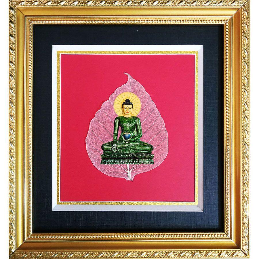 Tranh Phật In Trên Lá Bồ Đề HPB-43