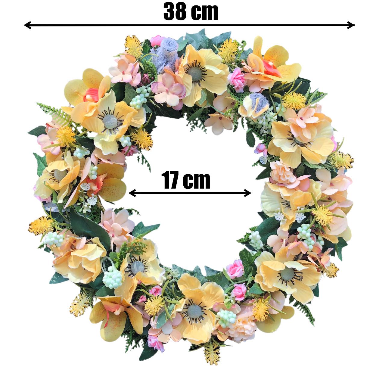 Vòng Hoa Vải Handmade V16058