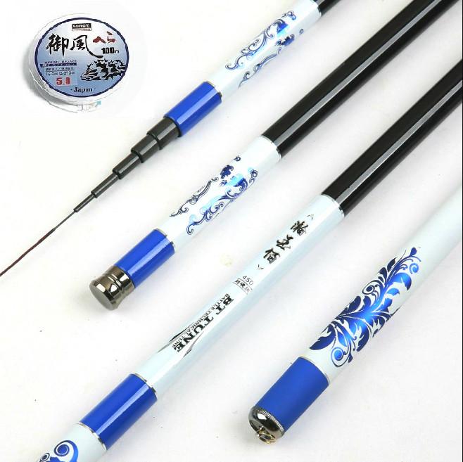 Cần câu tay xanh Carbon siêu cứng - Tặng kèm nhiều phụ kiện DCH06