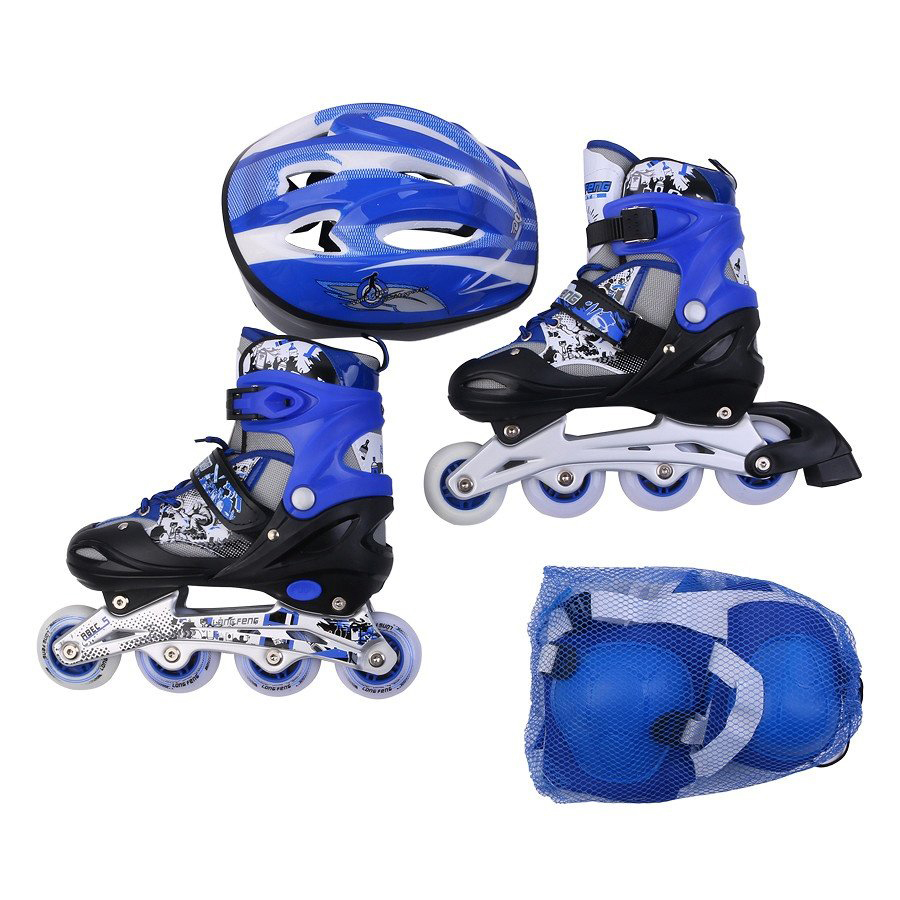 Bộ giày trượt patin Longfeng 906 + Bộ bảo hộ
