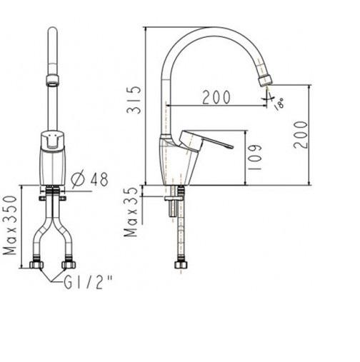 Vòi bếp nóng lạnh  American Standard Seva WF-5623 (FFAS5623)