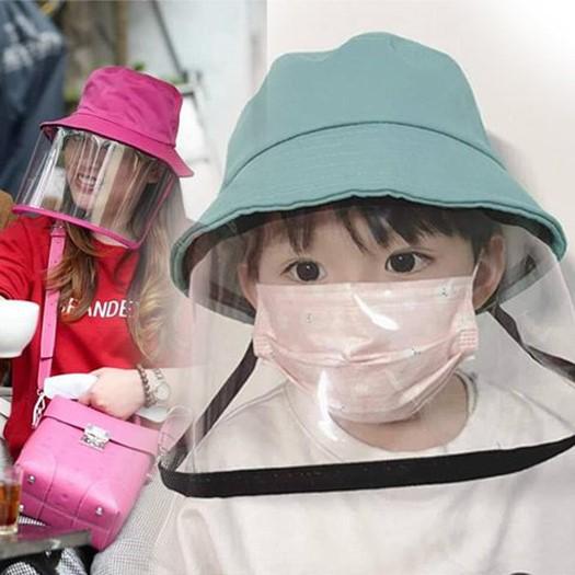 Mũ Chống dịch và khói bụi kèm kính nhựa Cho bé gái
