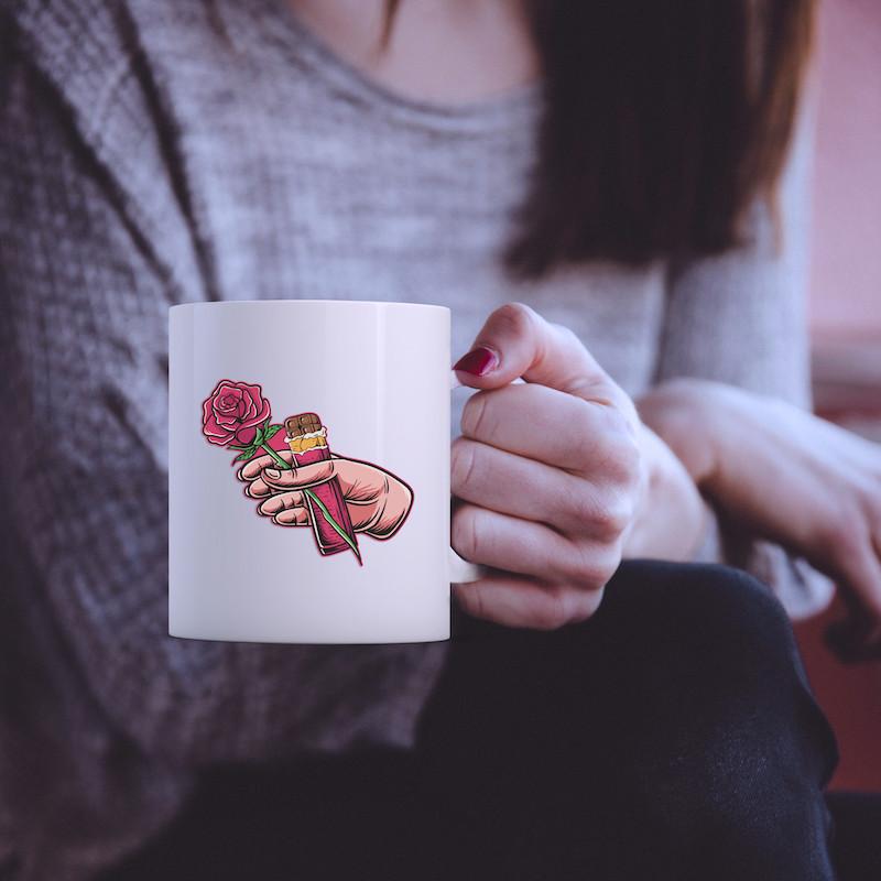 Rose & Chocolate - Single Sticker hình dán lẻ