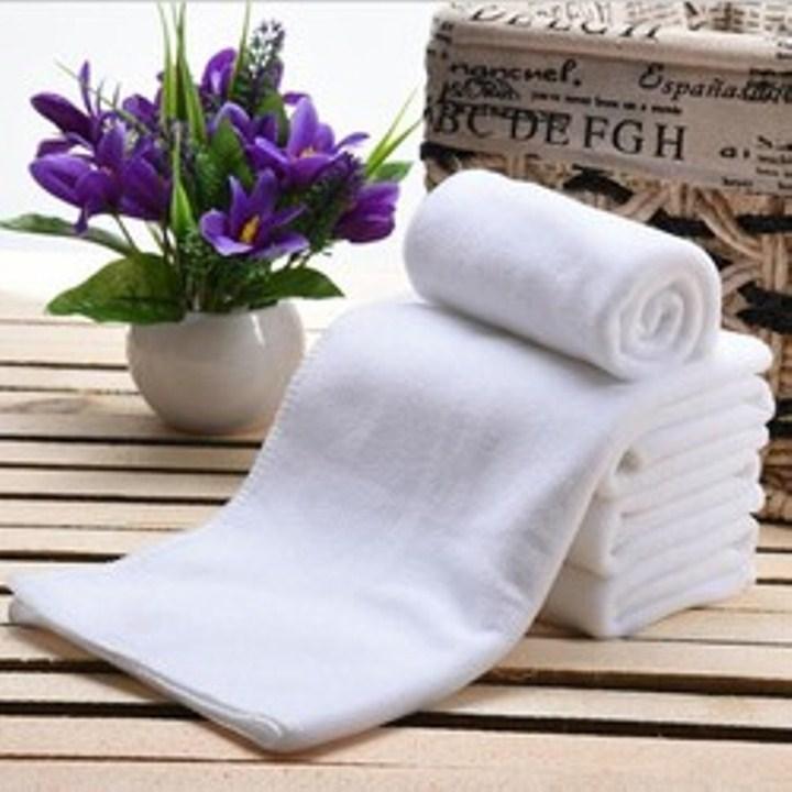 Khăn Tắm 100% Cotton Cao cấp Dùng Cho Gia Đình, Homstay, Spa, khách Sạn : Màu Trắng - Kích Thước = 65cm x 130cm