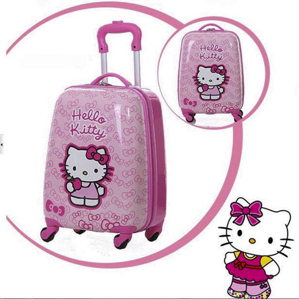 Vali Kéo Du Lịch Trẻ Em ABG, Vali Đẩy Size 18 In 2 Mặt Hình Công Chúa Ngộ Nghĩnh, Mèo Hello Kitty Dành Cho Bé Gái, Thiết Kế Nhỏ Gọn, Tiện Lợi , Giao Màu Ngẫu Nhiên -Hàng Chính Hãng