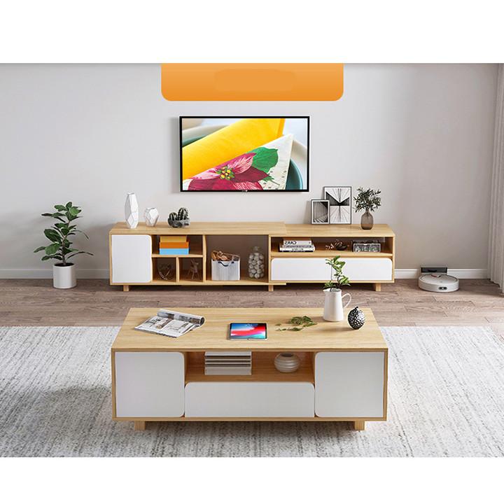 Kệ Tivi Gỗ Thay Đổi Kích Thước Thông Minh 1m4-1m9 - Kệ Tủ TV Trang Trí Nội Thất Phòng Khách, Decor Phòng Ngủ Đẹp