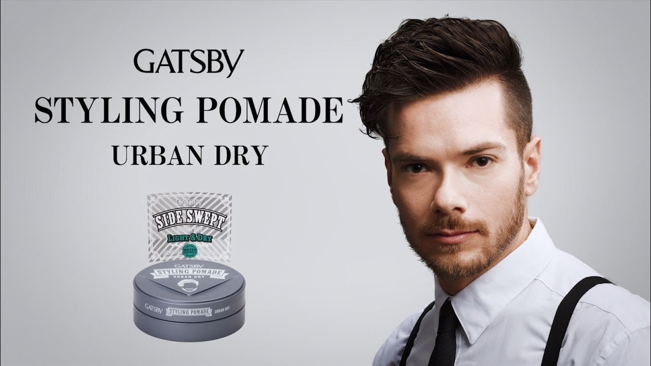 Sáp Classy Dry Pomade Tạo Kiểu Side Swept Giữ Nếp Cứng Tóc + Tặng Reuzel Grooming Tonic - Chính hãng - GATSBY STYLING POMADE 75G
