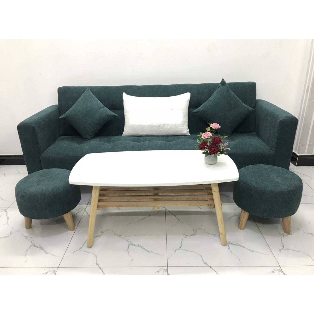 Bộ ghế sofa giường 2mx90 sofa bed tay vịn phòng khách sopha linco09