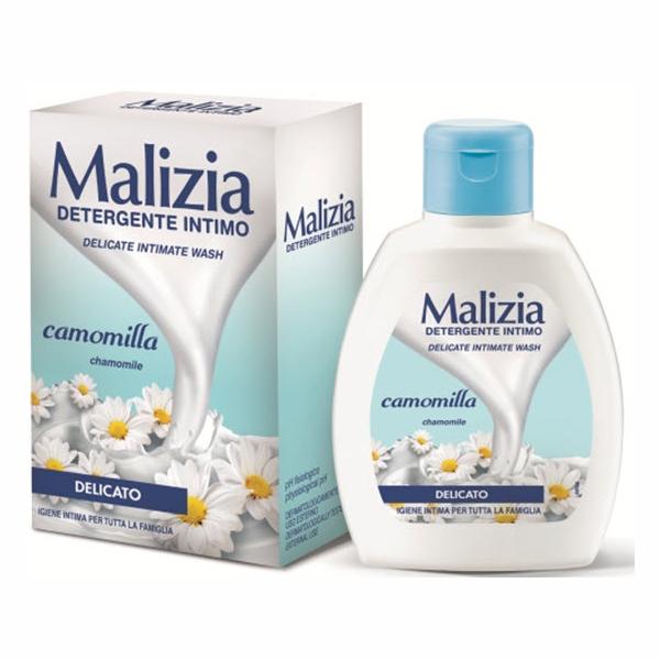 Dung dịch vệ sinh hoa cúc trắng Malizia Delicate Wash Chamomile 200ml tặng kèm móc khóa