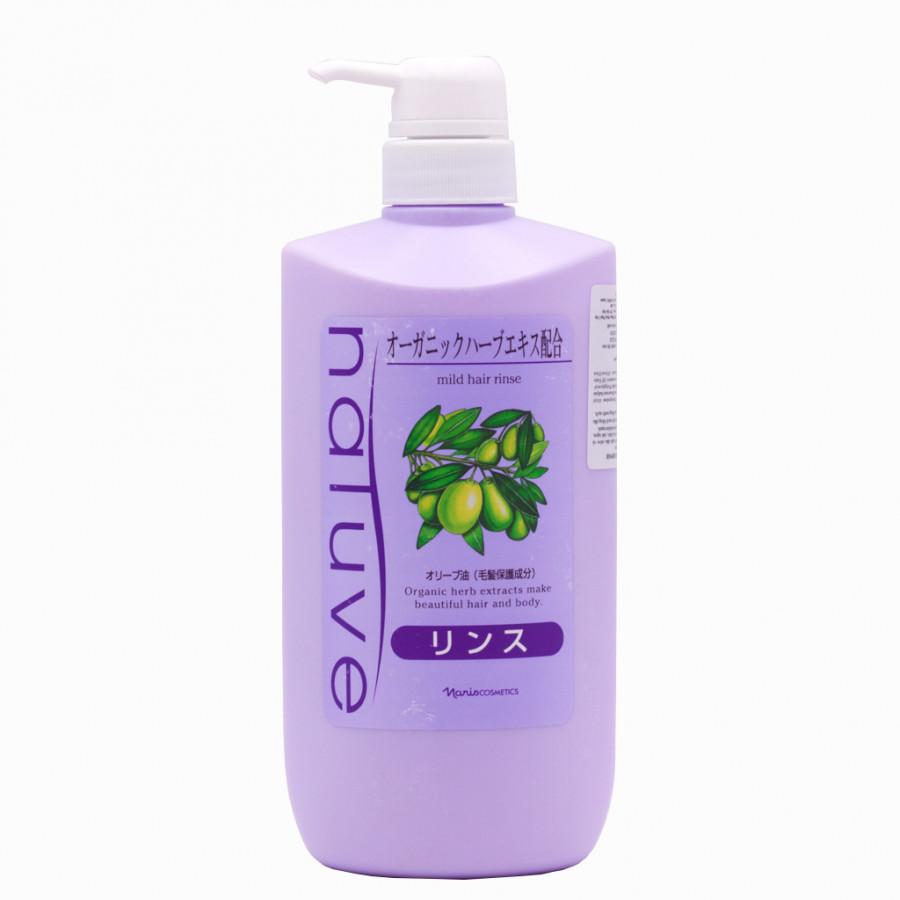 Dầu Xả Chiết Xuất Thảo Dược Phục Hồi Tóc Nhật Bản Naris Cosmetic Natuve Mild Hair Rinse - 650ml