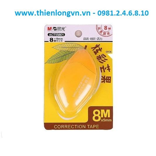 Xóa băng - Xóa kéo 8m hình quả xoài M&G - ACT55801 màu vàng