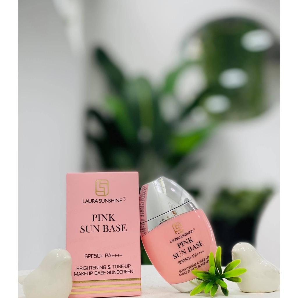 Kem Chống Nắng Kiêm Kem Lót Nâng Tone Da Hàn Quốc Pink Sun Base Spf 50+ Pa++++ Laura Sunshine