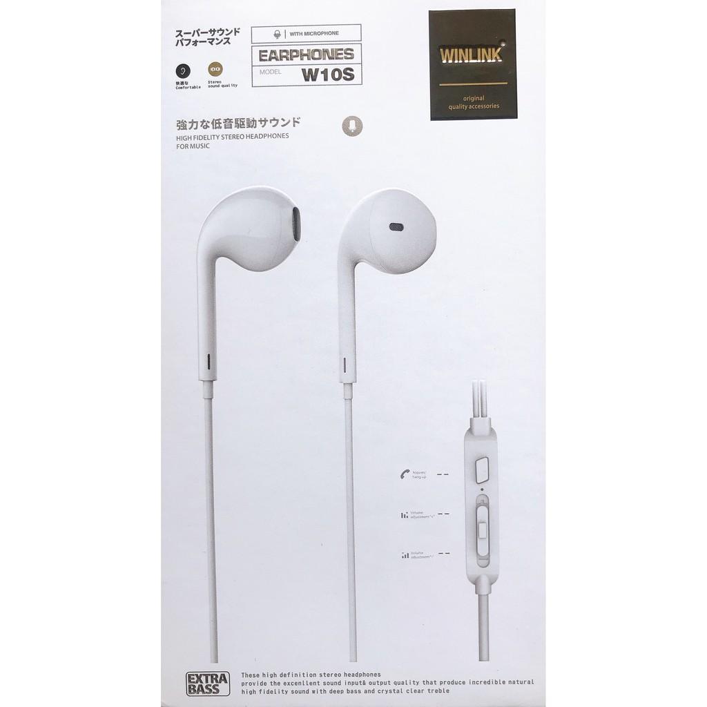 Tai nghe chính hãng Winlink  W10S (Samsung, 0ppo, Vivo, Xiaomi...) - Hàng chính hãng