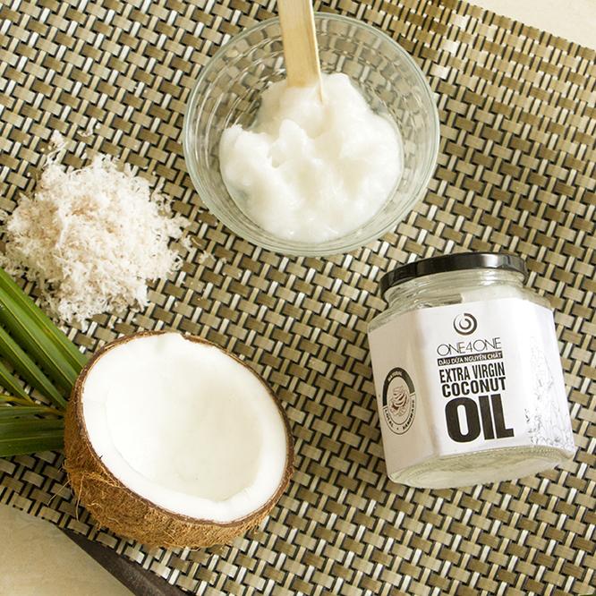 Dầu dừa lọ nguyên chất 100% One4One (380ml)