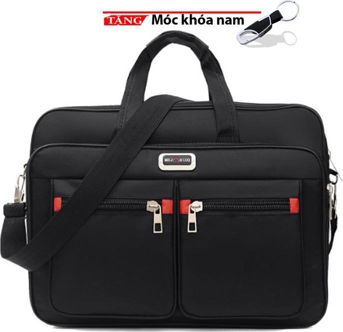 Cặp văn phòng laptop đeo chéo đeo vai 4 kiểu phong cách mới MN4 Tặng móc khóa nam cao cấp