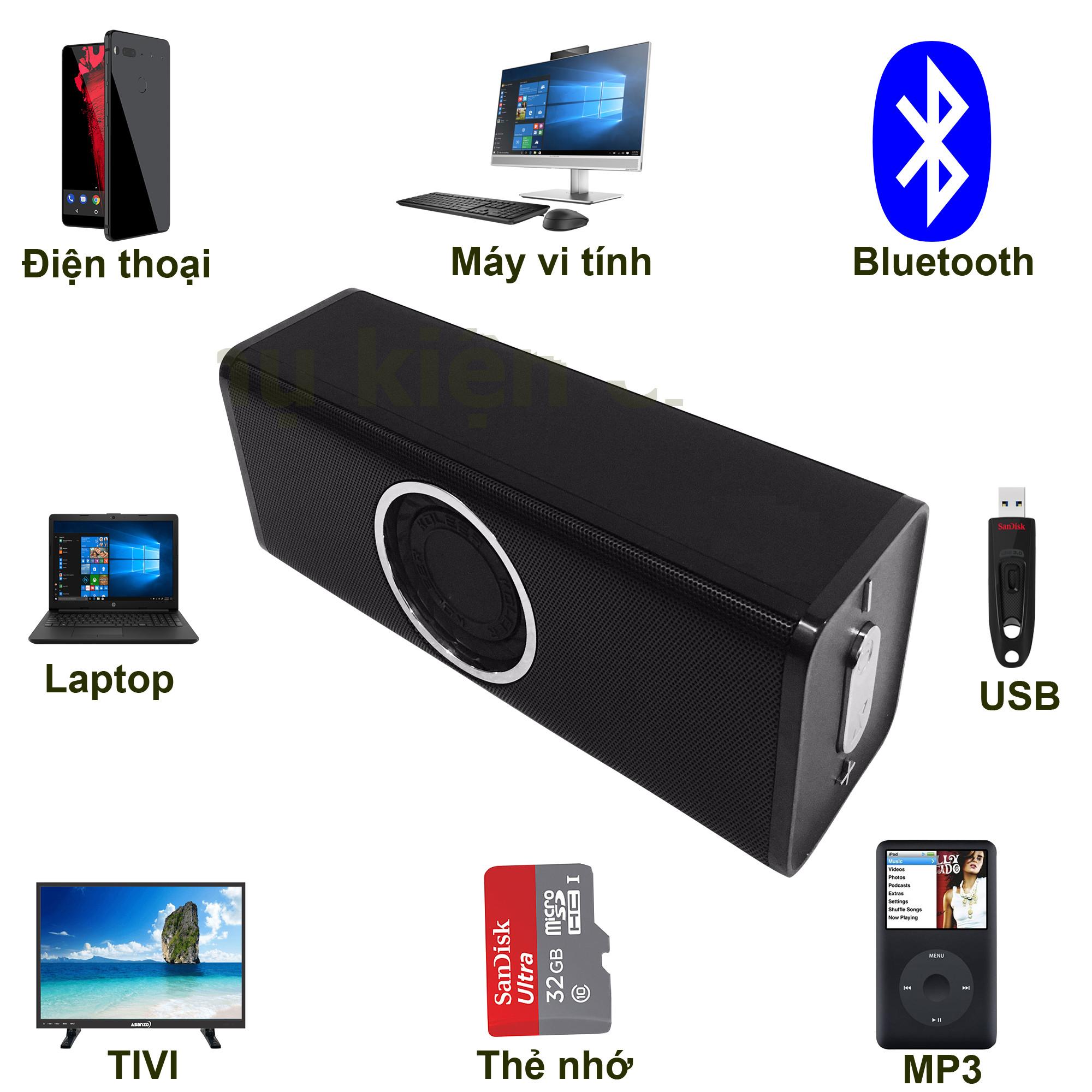 Loa Bluetooth Bass âm Thanh Sống Động chuẩn HIFI PKCB H5 3 trong 1 PF112