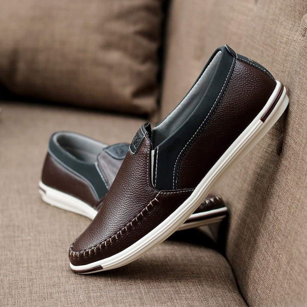 Giày Lười Nam Da Mềm L22