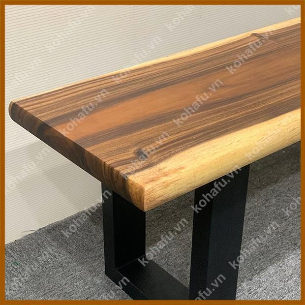 Mặt gỗ me tây, phù hợp làm băng ghế, quầy bar, kệ trang trí