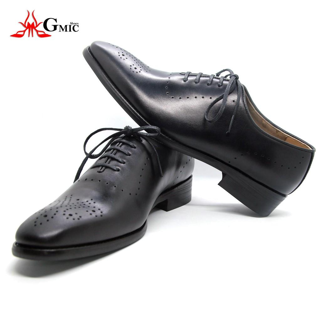 Giày Da Nam GMIC Đẳng Cấp   Giày Tây Nam Kiểu Dáng Sang Trọng Dành Cho Phái Mạnh